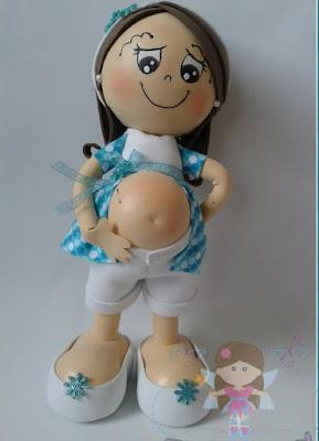 Patrones fofuchas - Fofucha embarazada