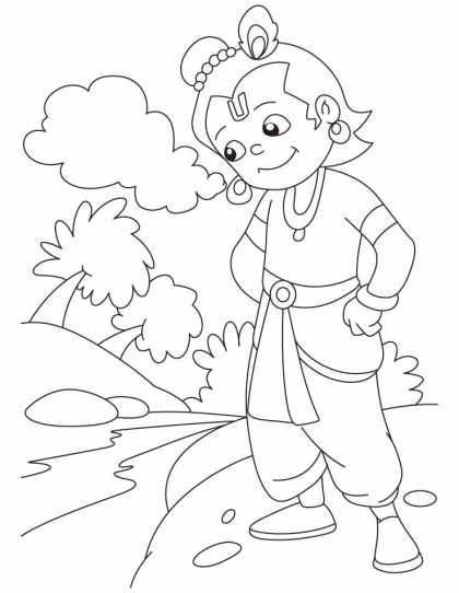 hindu gods printable coloring pages - photo#24