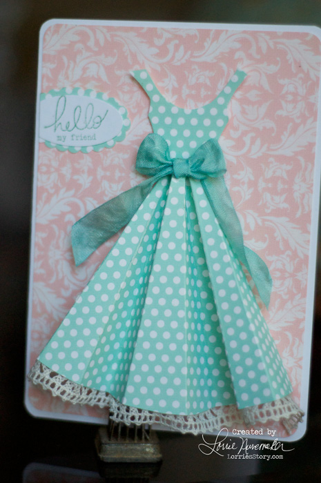 Dress Card inspired by Pinterest