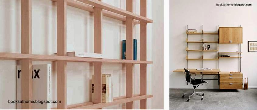 Arquitectura de casas estanter as modernas livianas y - Estanterias pequenas de madera ...