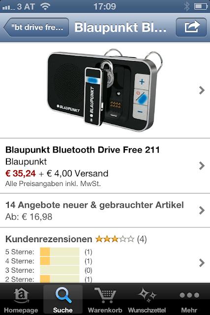 Blaupunkt Bluetooth Drive Free 211