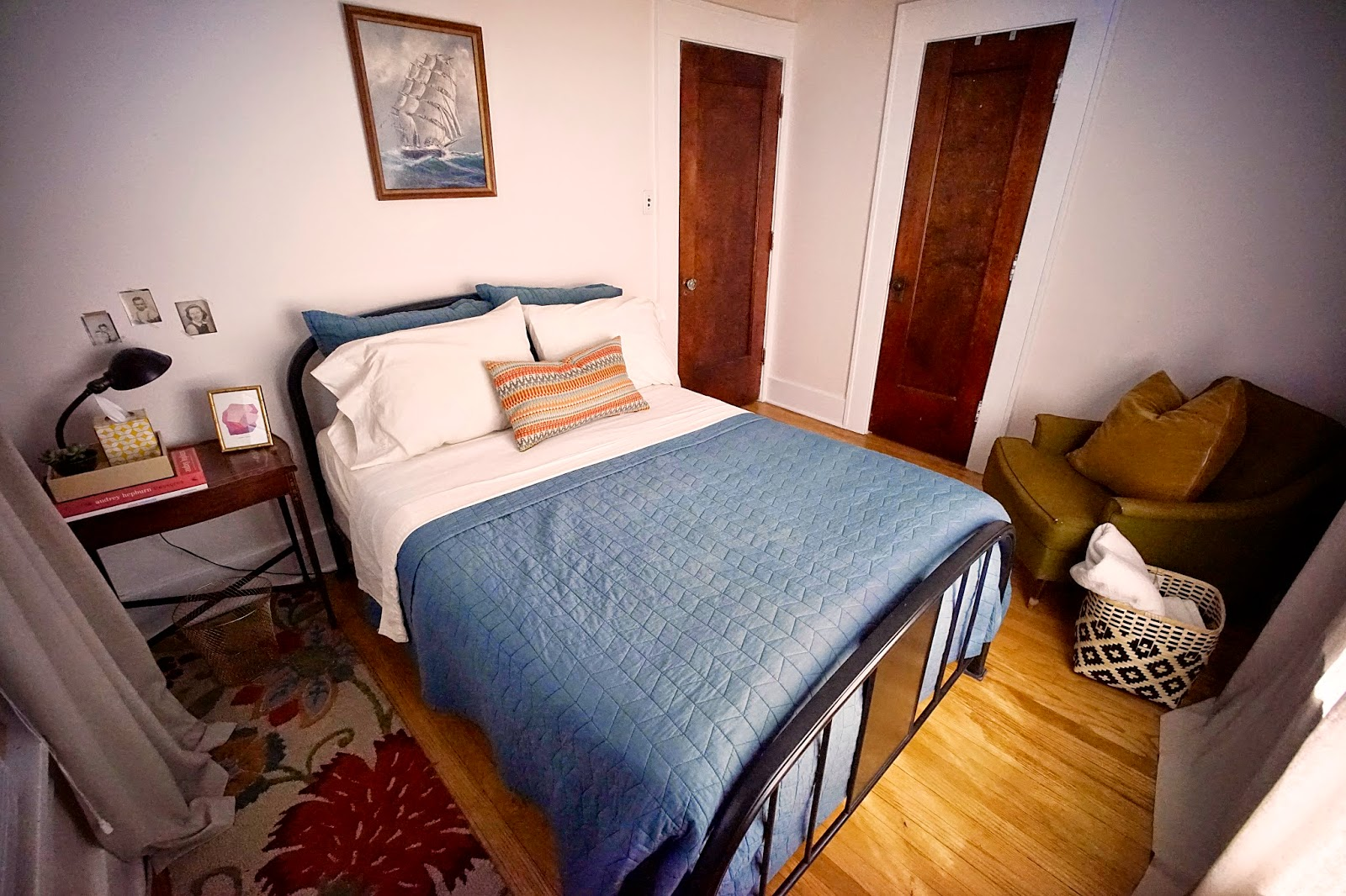 Small Guest Room Antique Bed