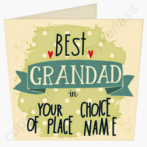 Best Grandad Dad Daddy in YOUR CHOICE - great Geordie Gifts