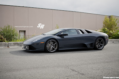 Grigio Telesto Lamborghini Murciélago LP640-4 on PUR Wheels side view