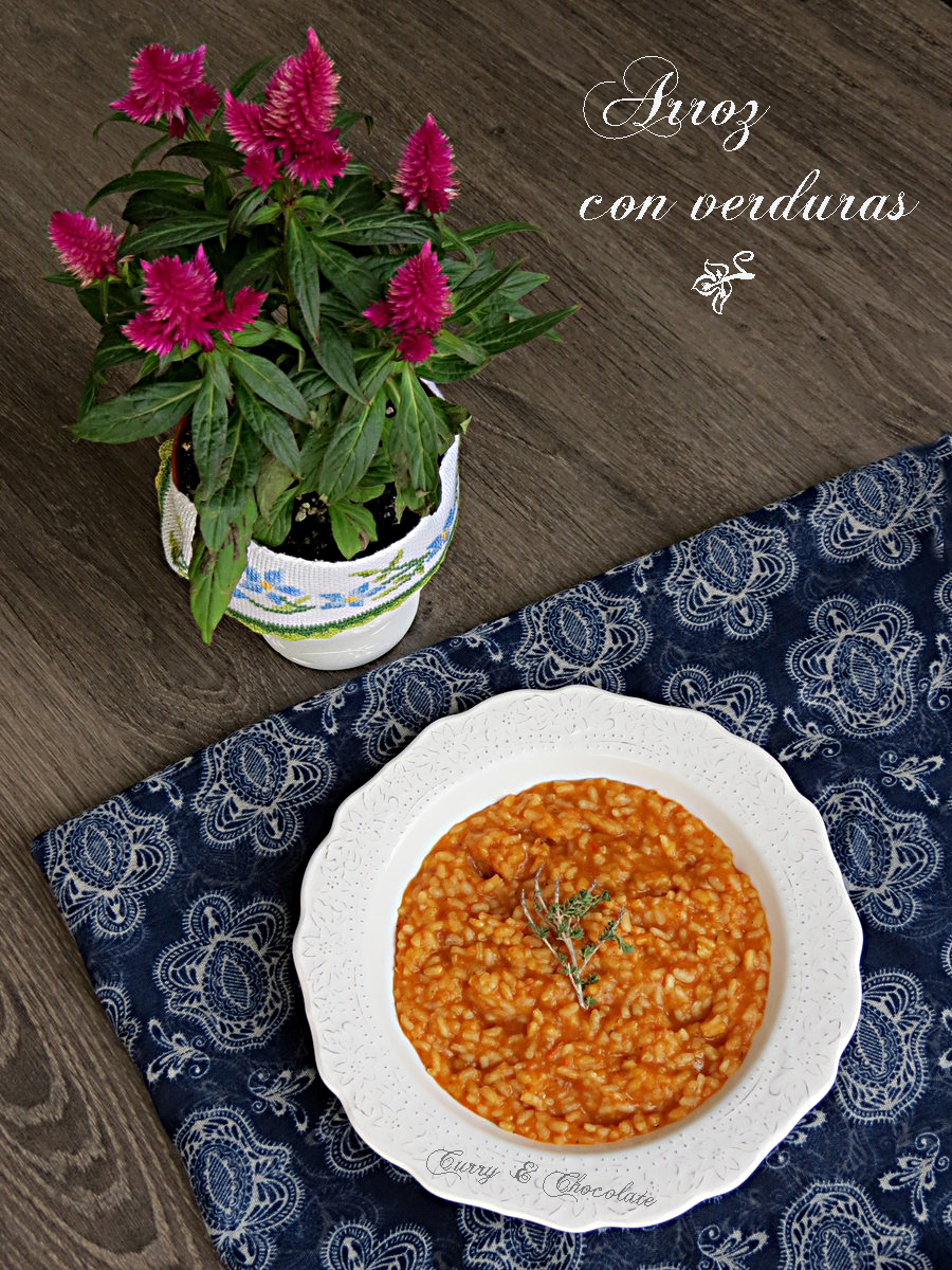 Arroz fácil con verduras  - Easy vegetable rice