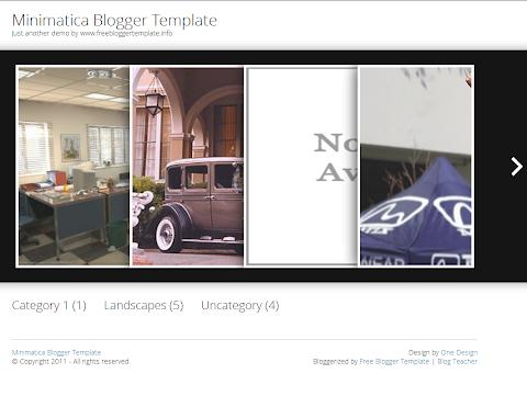 Minimatica Blogger Theme