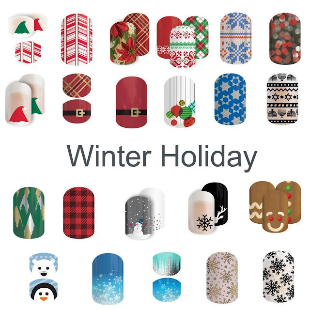 Jamberry nail wraps holiday gift sets winter holiday Christmas