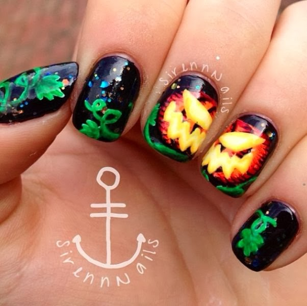 New Hairstyle 2014: Top 10 Pumpkin Nail Art Designs for Halloween