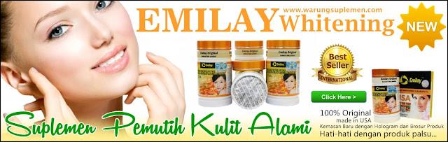 Jual suplemen pemutih kulit alami emilay whitening asli kemasan baru