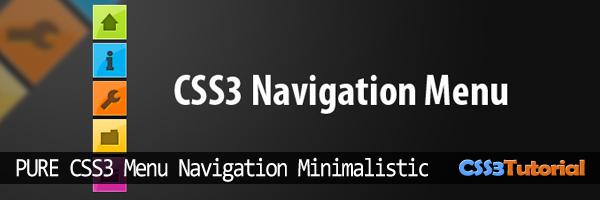 Pure CSS3 Minimalistic Navigation Menu
