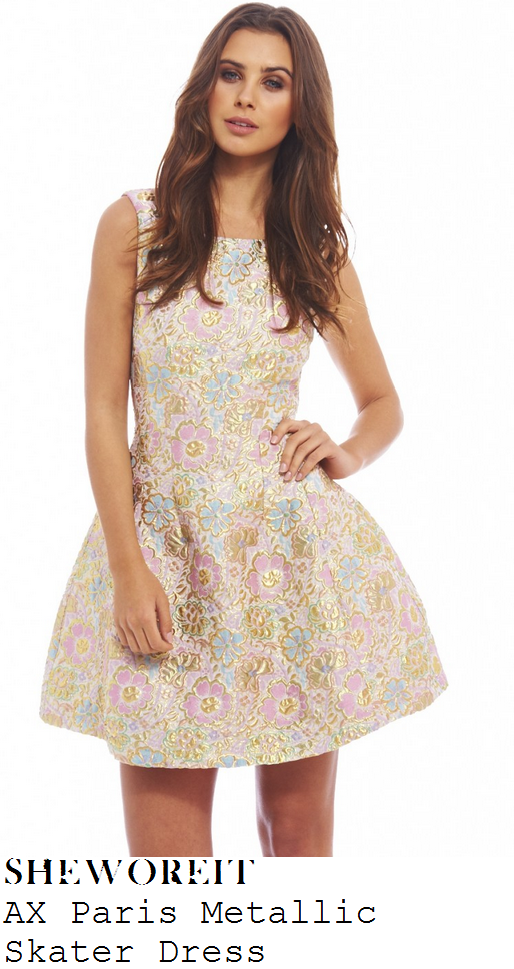 georgia-kousoulou-pink-gold-blue-floral-print-sleeveless-skater-dress
