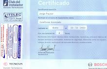 CERTIFICADO DE INSTALADOR (CALEFONES)