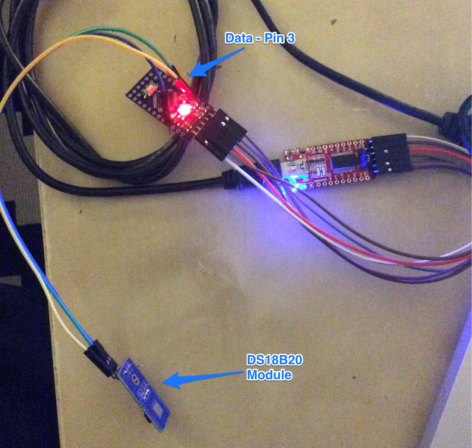 I Build Stuff February 2015 Ds18b20 Wiringpi Wireless Room Temperature Monitoring System Sensing With Sensor And Arduino Pro Mini