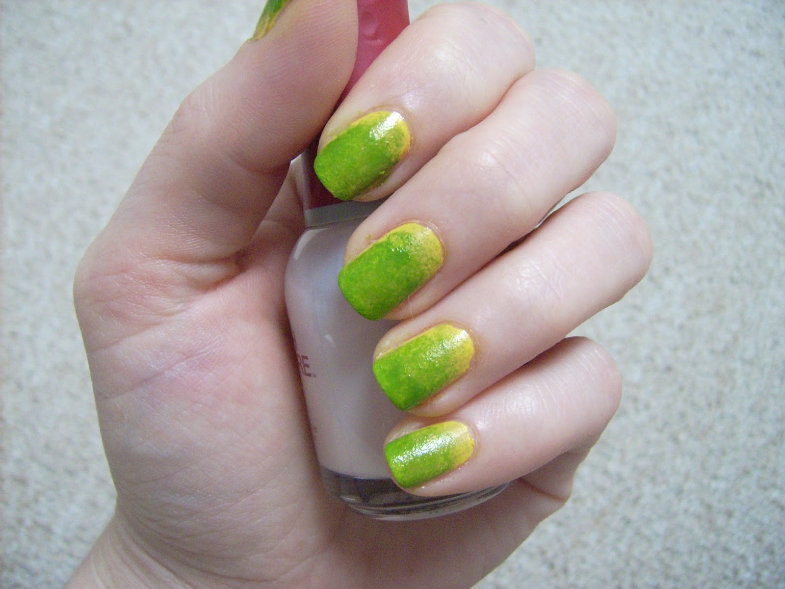 spring nail art, green yellow nail art