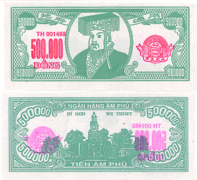 Chinese ghost money, Vietnamese dong