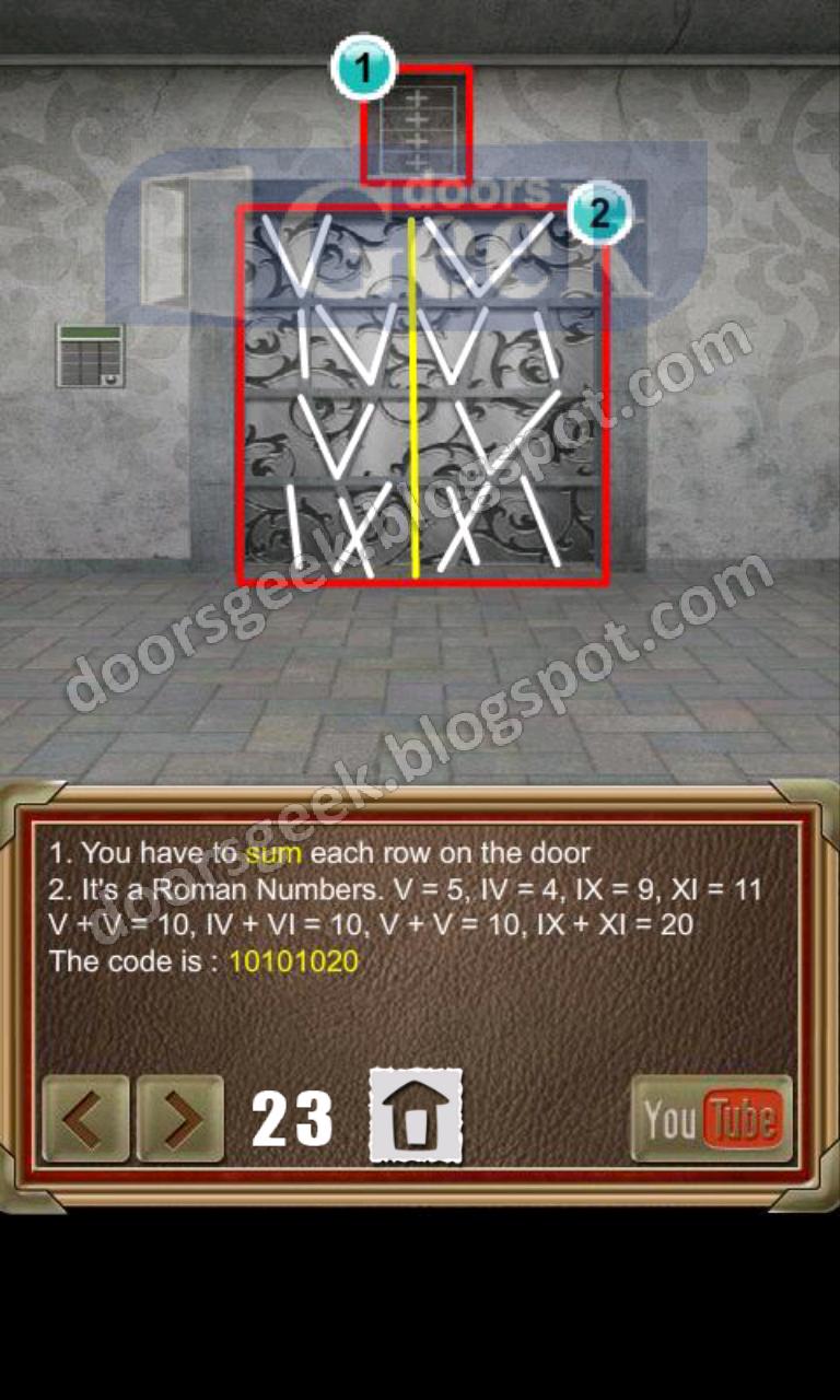 100 doors of revenge level 23 doors geek for 100 doors door 23