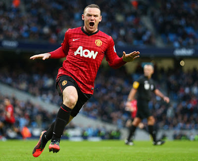 Wayne Wazza Rooney Manchester City vs Manchester United 2012