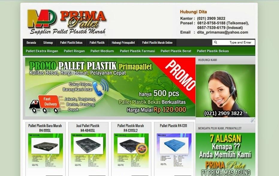 Pallet Plastik Bekas