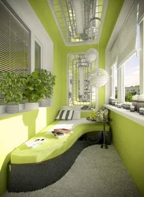 Gestylte Balkon-Einrichtung - eine Seltenheit