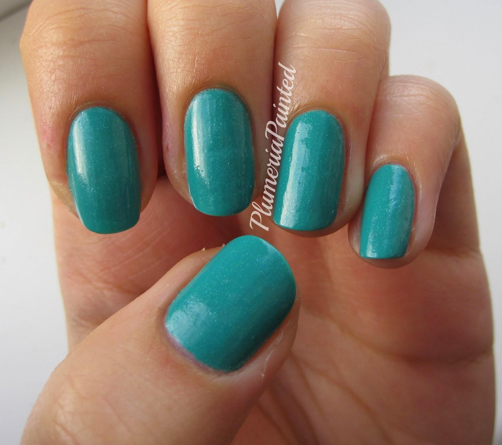 PlumeriaPainted: Teal Nails: Essie - Naughty Nautical