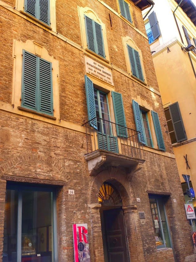 Rossini birthplace in Pesaro, Italy