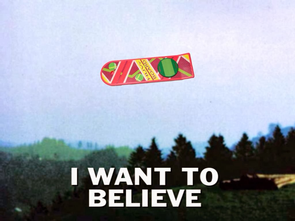 HUVr Hoverboard Back To The Future X-Files I Want To Believe