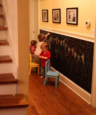 Hallway chalk board for kids