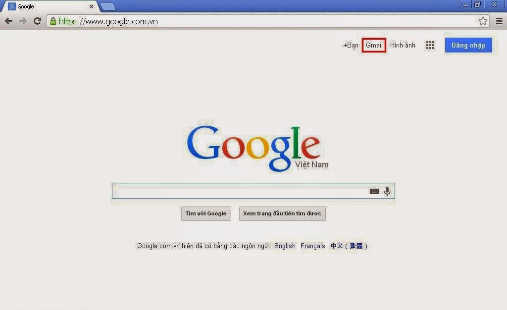 Click vào Gmail