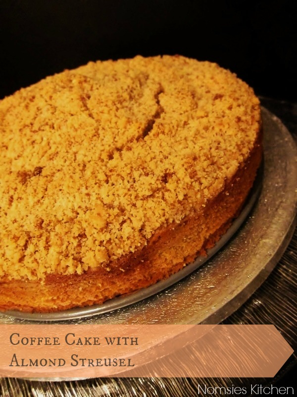Coffee Cake with Almond Streusel Topping Recipe from Nomsies Kitchen