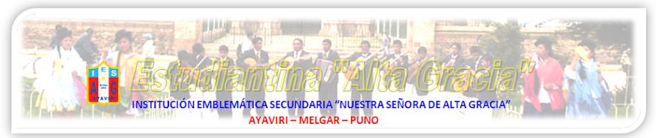 """I.E.S. Alta Gracia  Estudiantina """"Alta Gracia"""" Ayaviri Melgar   Puno"""