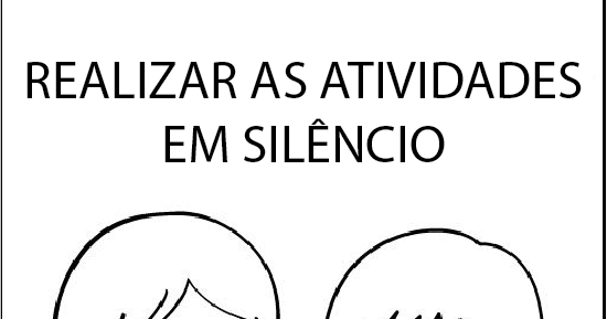 plaquinha fazer silêncio na escola alfabetizei
