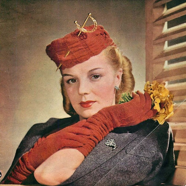 1940s Knit Accessories #vintage #gloves #hat #knit #1940s