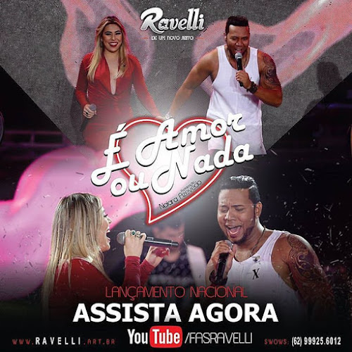 Ravelli divulga novo vídeo com participação de Naiara Azevedo