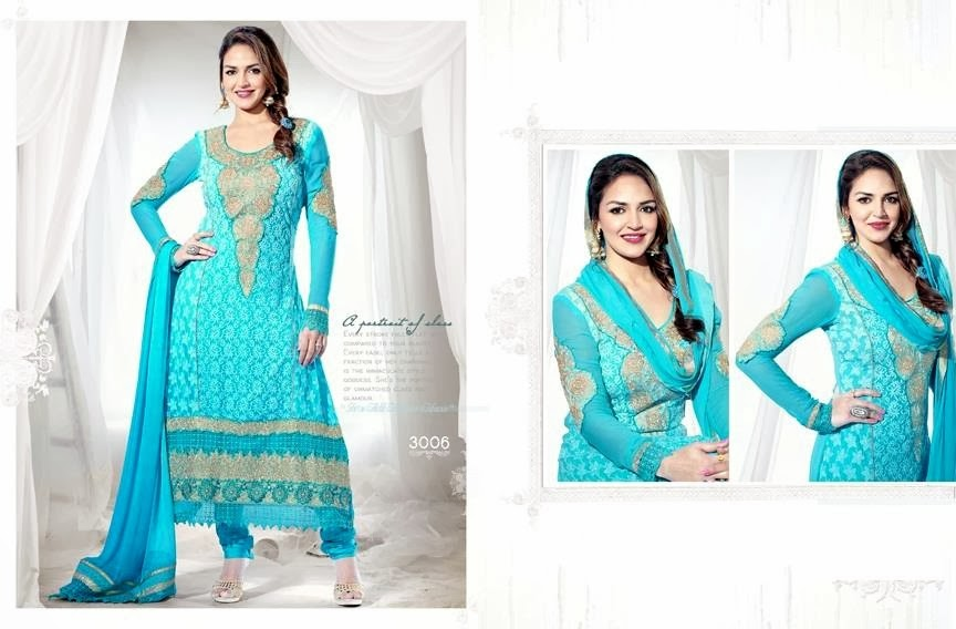 EshaDeolSalwarSuits2013 2014 wwwfashionhuntworldblogspotcom 005 - Wonderful Color Combination Esha Deol Suits