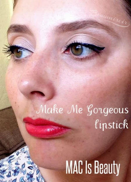 MAC Make Me Gorgeous Lipstick MAC Is Beauty Collection FOTD Face of the day. Coral creamy bright lipstick.