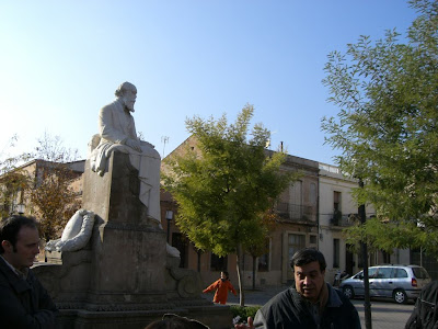 Sculpture of Antoni Gaudí in La Colònia Güell