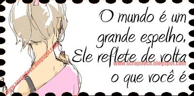 Recadinho/Foto com frase de Reflexão para Facebook