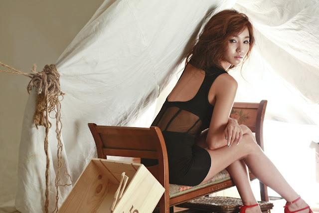 2 Lee Ji Min in Black-very cute asian girl-girlcute4u.blogspot.com