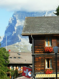 Wheelchair access in car free Murren, Interlaken, Swiss Alps, disabled travel