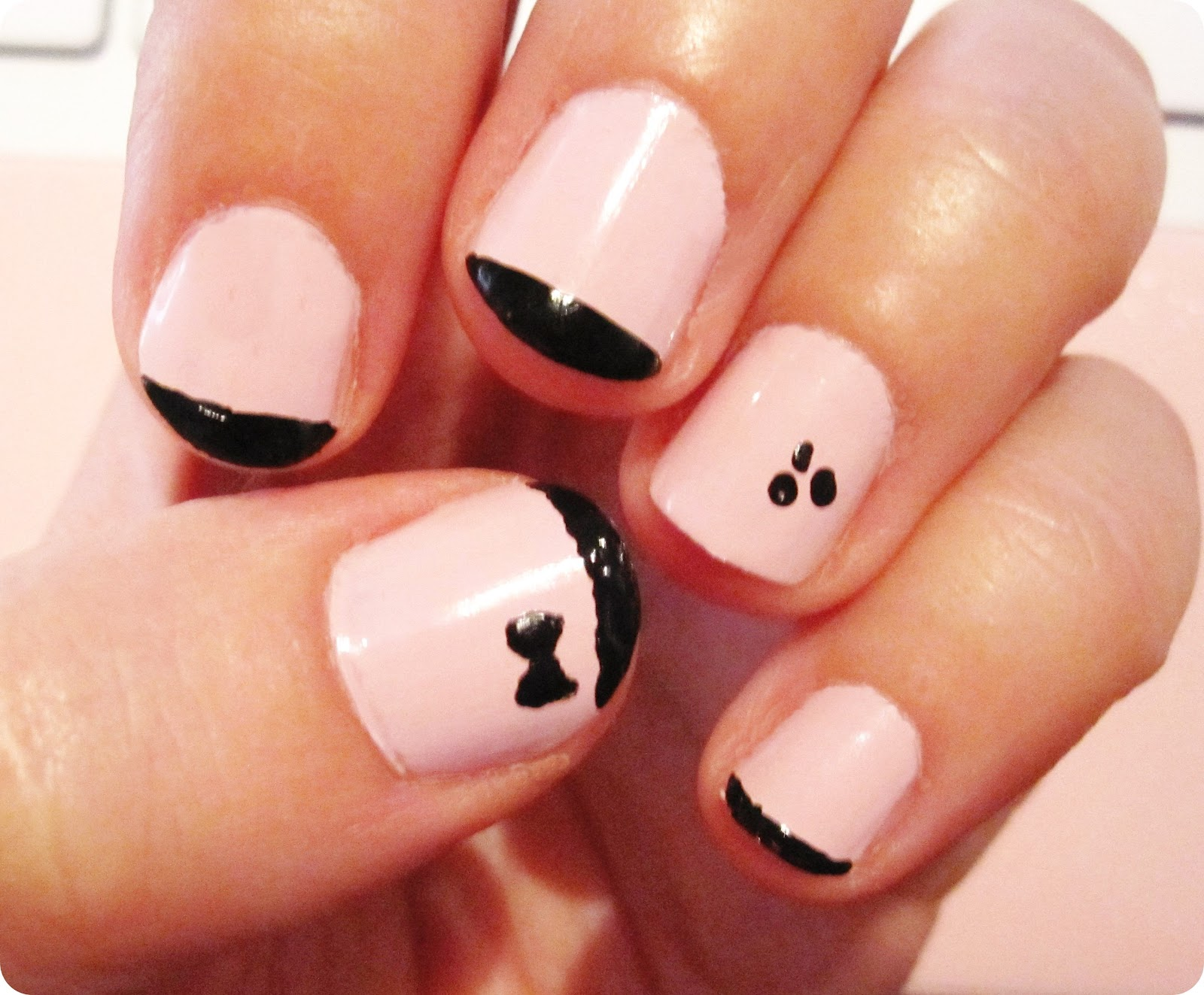 You are a really it girl manicura francesa black pink - Manicura francesa colores ...