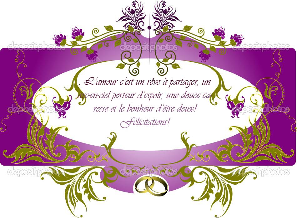 texte pour une carte de mariage - Mot Pour Felicitation Mariage