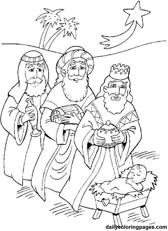 Three kings day coloring pages los tres reyes magos for Wisemen coloring pages