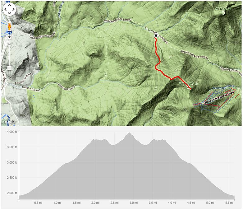 Tecumseh Mt Tecumseh NH 4000 TrailsNH
