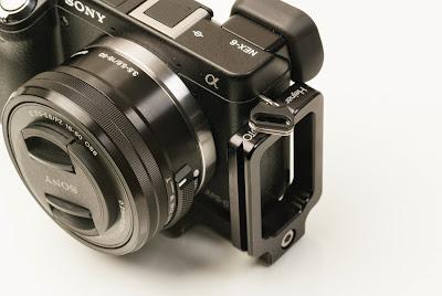 Hejnar Photo SN-6 modular L bracket on Sony NEX-6 ILC camera