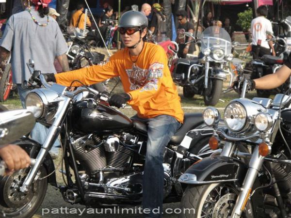 motor-biker at pattaya bike week