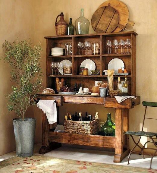 Arredamento provenzale mobili in legno provenzale - Arredare casa stile country ...