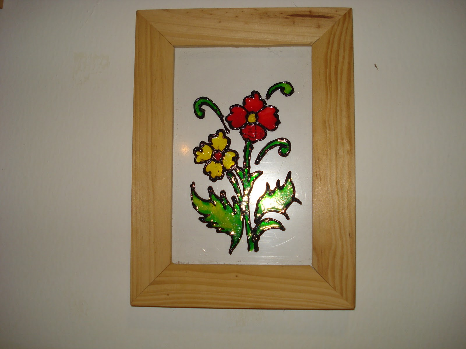 Some easy crafts for Simple glass painting pictures