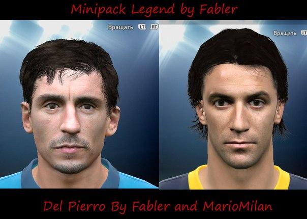 SANTARA PES: PES 2015 Mini FacePack Legends By Fabler and MarioMilan