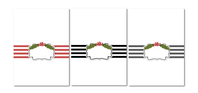 Holiday Card Templates from my3monsters.com -- just add your own photos and text!