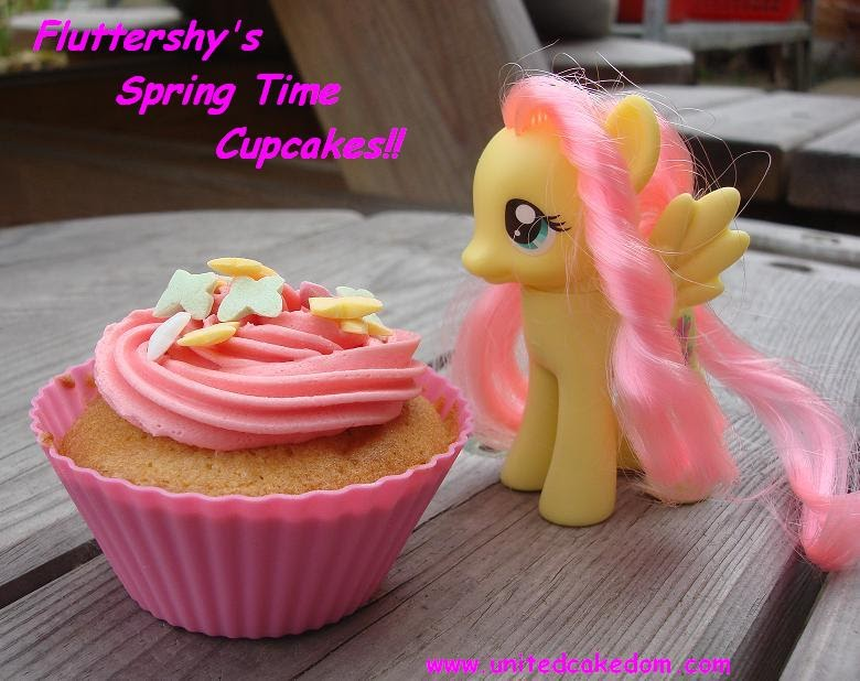 United Cakedom Fluttershy S Spring Time Cupcakes